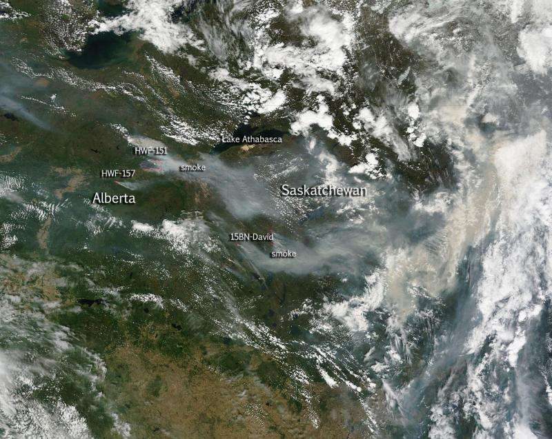Large wildfires plague Alberta and Saskatchewan