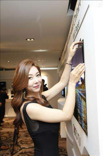 LG Display shows off a thin, wall-stuck panel of the future