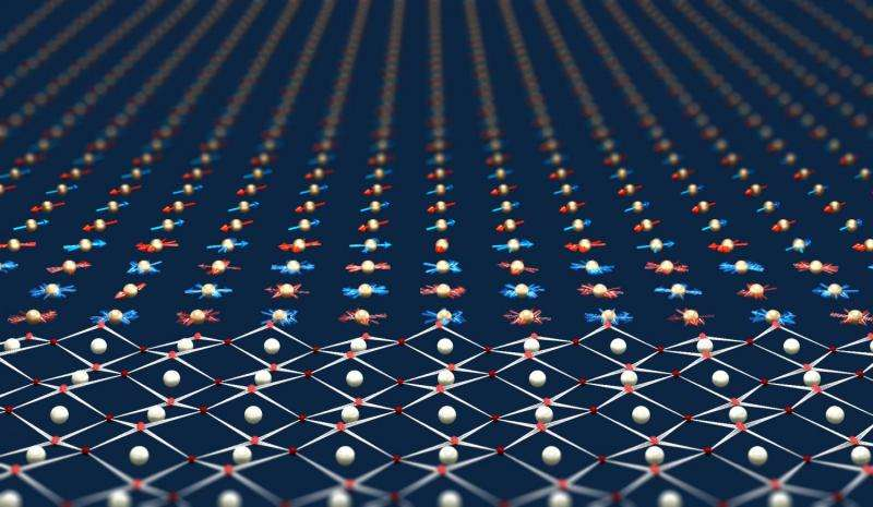 Light-induced Magnetic Waves in Materials Engineered at the Atomic Scale