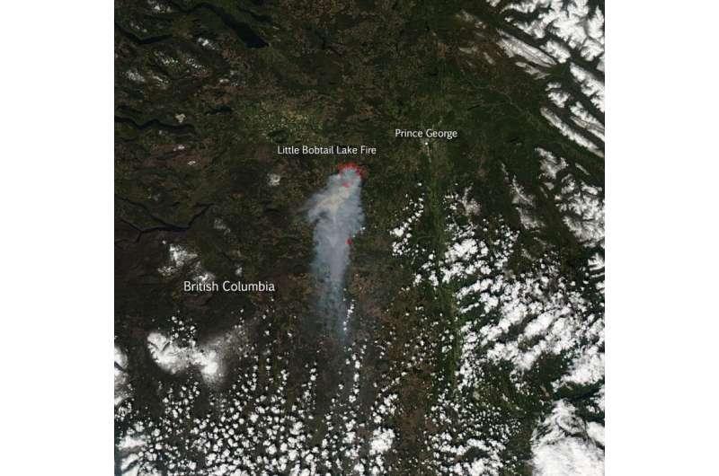 Little Bobtail Lake fire in British Columbia