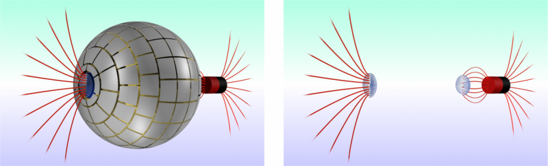 Magnetic wormhole connecting 2 regions of space created for the first time