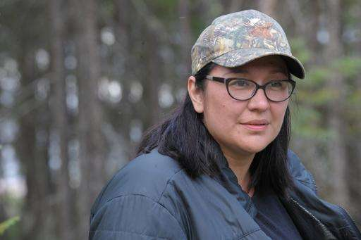 Mandy Gull, deputy chief of the Cree First Nation of Waswanipi in Quebec, Canada, pictured during a walk along the Broadback Riv