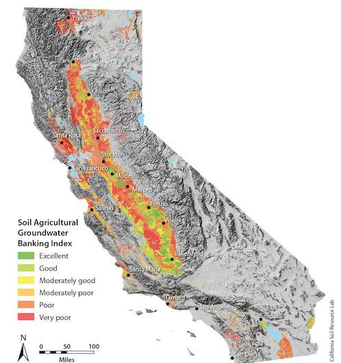 Map identifies farmland with greatest potential for groundwater recharge