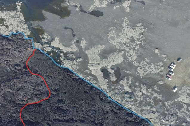 Mapping lava flows in Iceland
