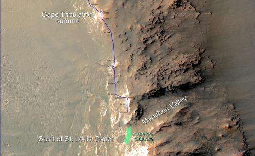 Mars rover nearing marathon achievement
