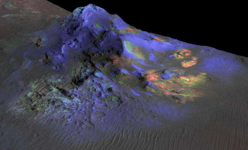 Martian glass -- window into possible past life