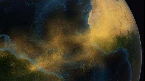 Massive amounts of Saharan dust fertilize the Amazon rainforest