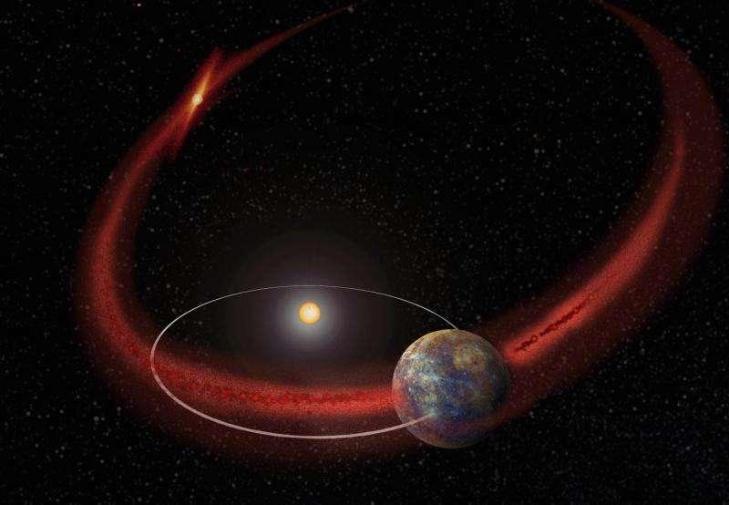 Mercury gets a meteoroid shower from comet encke