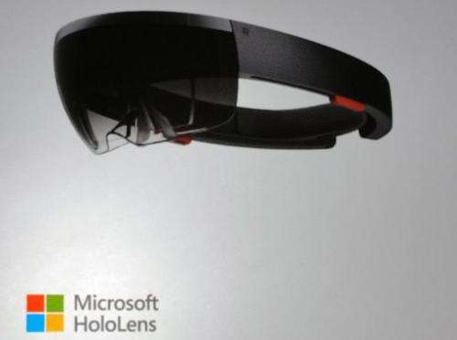 Microsoft introduces HoloLens headgear that overlays 3D objects on the real world on January 21, 2015 in Redmond, Washington