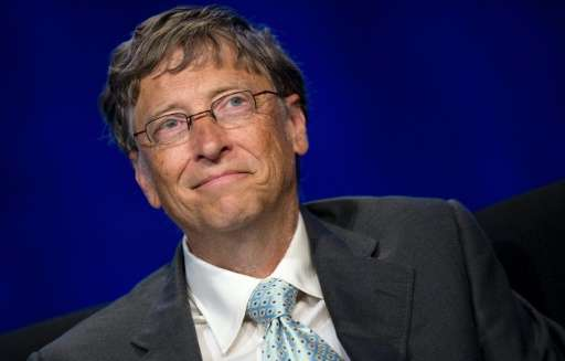 Microsoft's Bill Gates, pictured on July 23, 2012, in Washington, DC, was the unsurprising leader of the first Forbes list of th