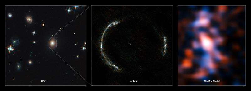 Most detailed view ever of star formation in the distant universe