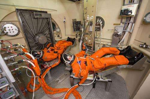 NASA image: Astronaut spacesuit testing for orion spacecraft
