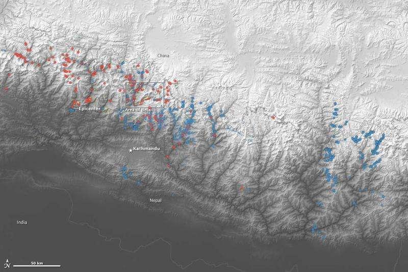 NASA-led volunteers map landslides by Nepal quakes