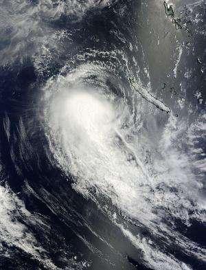 NASA satellite sees wind shear affecting Tropical Cyclone Ola