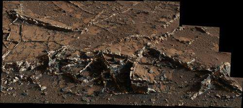 NASA's Curiosity eyes prominent mineral veins on Mars