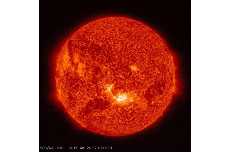 NASA SDO: Images of a mid-level solar flare