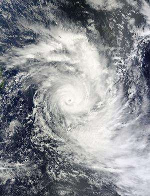 NASA sees major Tropical Cyclone Bansi north of Mauritius