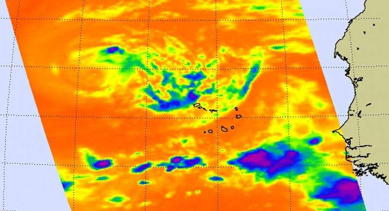 NASA shows upper-level westerly winds affecting Tropical Storm Fred
