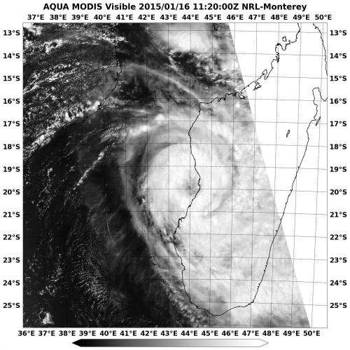 NASA spots newborn Tropical Storm Chedza making landfall