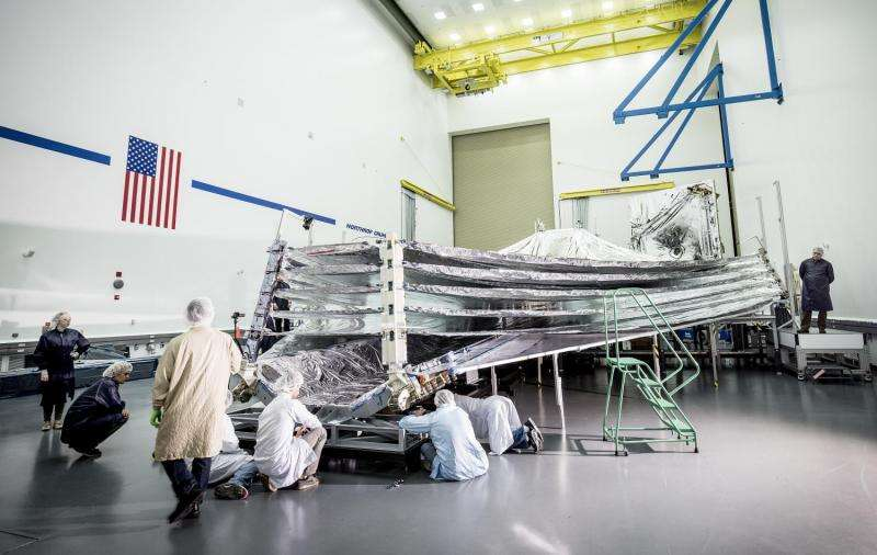 NASA's Webb sunshield gives an 'open wide' for inspection