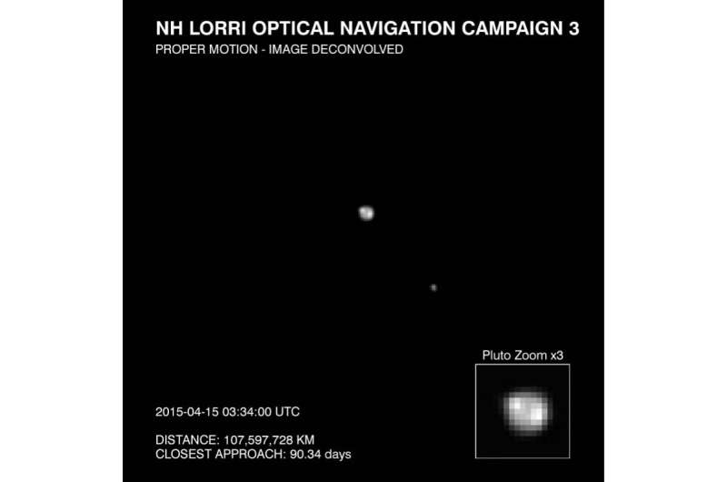 New Horizons Detects Surface Features, Possible Polar Cap on Pluto