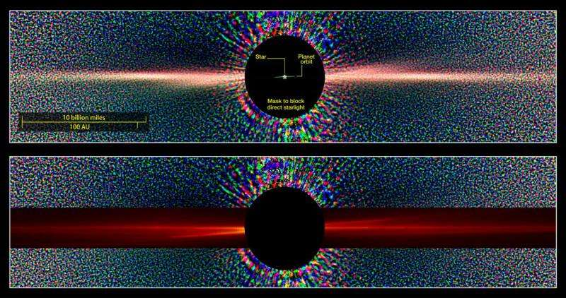 New NASA supercomputer model shows planet making waves in nearby debris disk