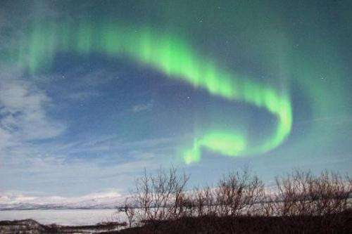 Northern Lights in March of 2012, in Abisko, Swedish Lapland. Europe is expected to be able to witness aurora from the storm by