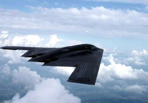 Northrop Grumman is the company behind the US' bat-winged B-2 stealth bomber, photographed in flight January 1, 1999, and the ex