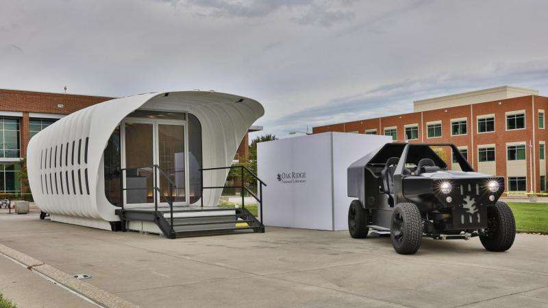 ORNL integrated energy demo connects 3-D printed building, vehicle