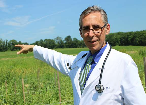 Physician grows primary care practice on his farm