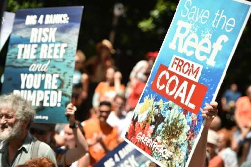 Plans to develop coal mines and ports to export resources have drawn protests in Australia due to fears such projects could thre