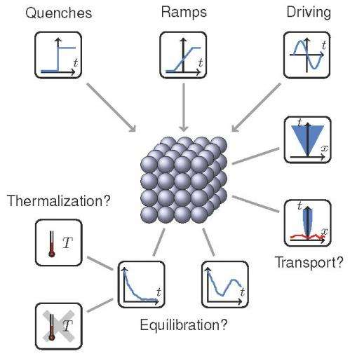 Quantum many-body systems on the way back to equilibrium