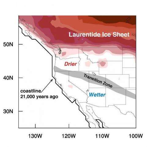Reconstructing topsy-turvy paleoclimate of western US 21,000 years ago