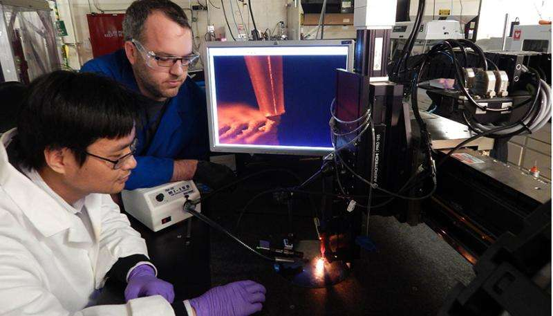Researchers 3D-print with reactive materials