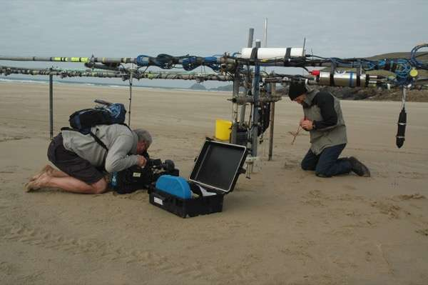 Research to address mobility of unexploded ordnance on beaches