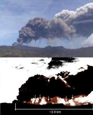 Role of gravitational instabilities in volcanic ash deposition: Eyjafjallajökull