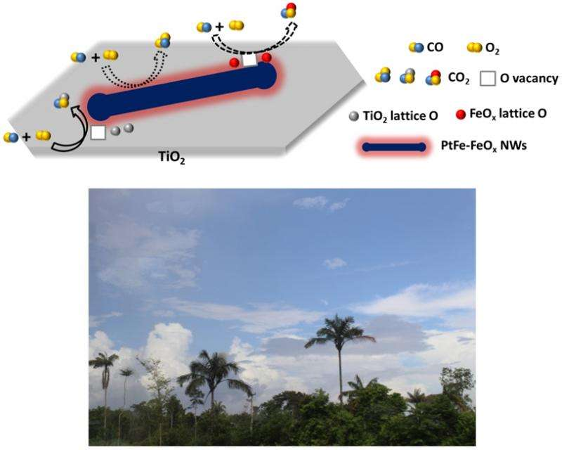 Room temperature oxidation of carbon monoxide with 100% efficiency