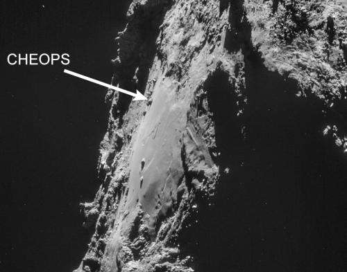 "Rosetta gets a peek at Comet 67P's ""underside"""