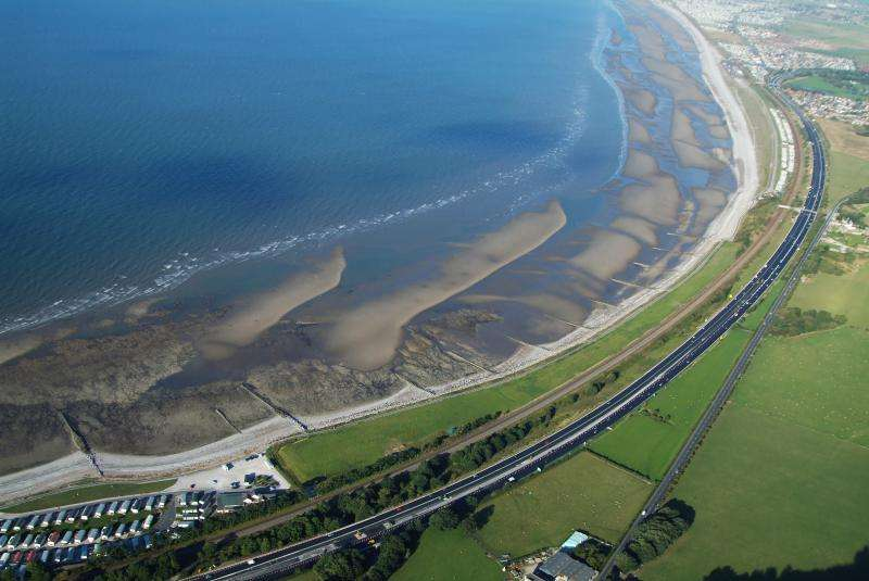 Sand-engine to protect against coastal erosion