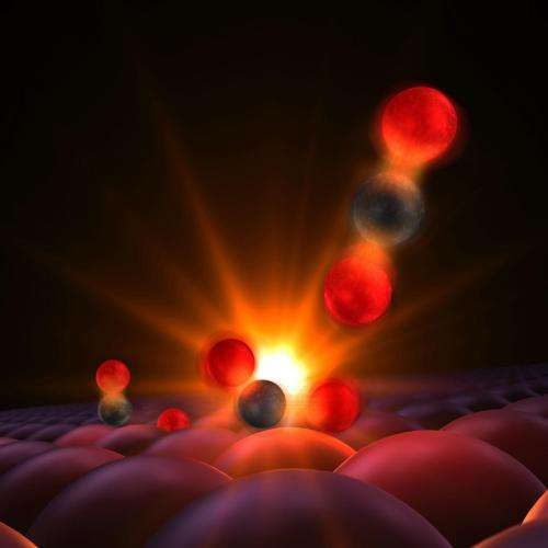Scientists get first glimpse of a chemical bond being born