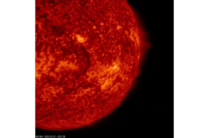 SDO sees a dark filament circle