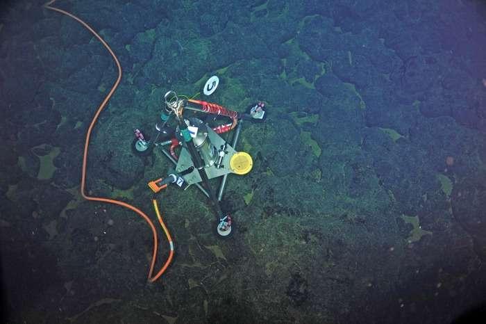 Seafloor sensors record possible eruption of underwater volcano