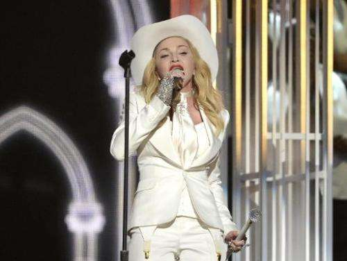 Singer Madonna performs on January 26, 2014 in Los Angeles, California