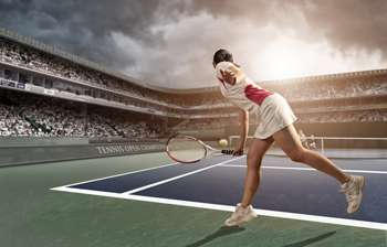 Slipping and sliding to major tennis success
