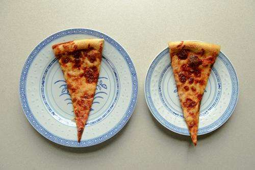 Smaller plates don't always lead to smaller portions