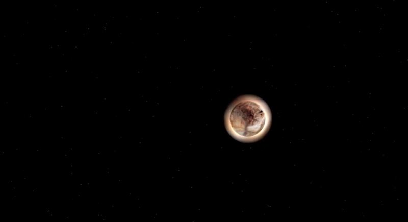 SOFIA points telescope toward pluto occultation