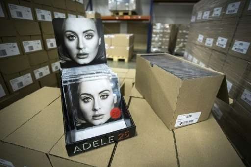 """Spotify acknowledged November 19, 2015, that """"25,"""" the new album from British singer and songwriter Adele, will not be"""
