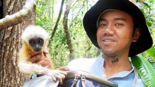 Student rescues abandoned baby gibbon
