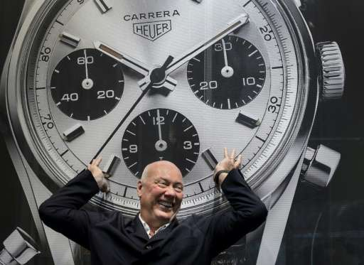 Swiss watchmaker Tag Heuer's CEO Jean-Claude Biver poses during a press conference on December 16, 2014 in La Chaux-de-Fonds, We