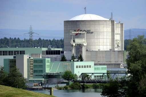 Switzerland's oldest nuclear power plant Beznau, near Doettingen, northern Switzerland